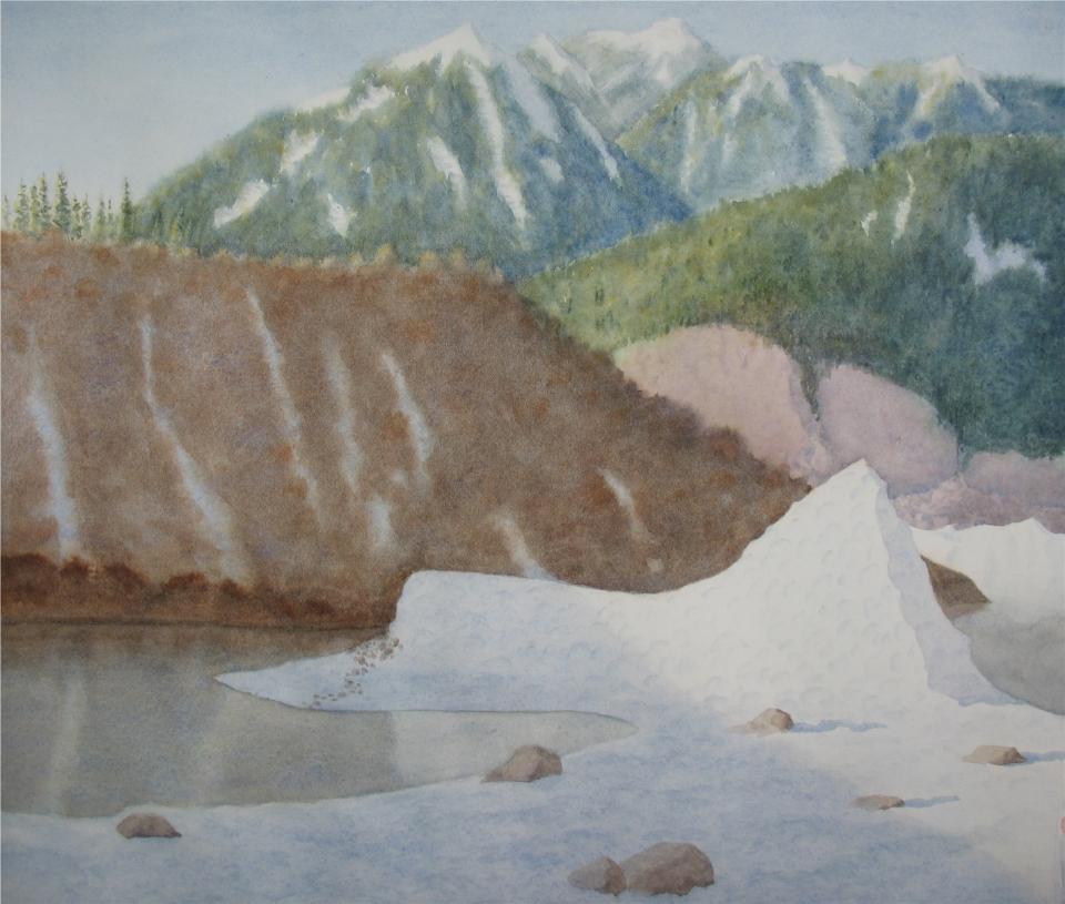 Sheridan Glacier berg