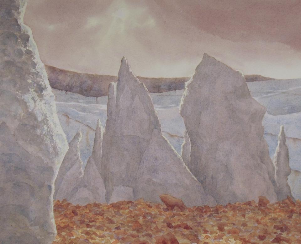 Miles Glacier and bergs