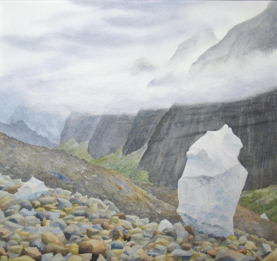 Side Valley single berg, Miles Glacier