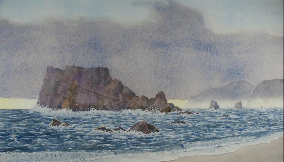 Oregon Coast: Rocks and surf