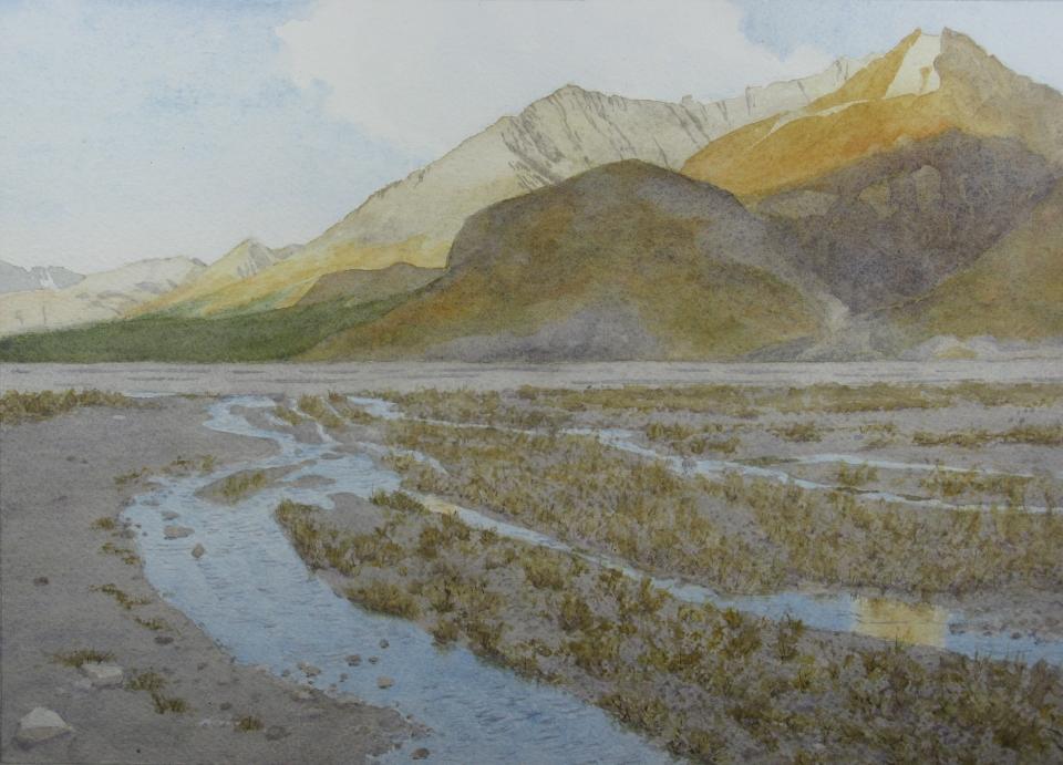 Denali: Evening reflections - 8.25 x 11.25 - $300