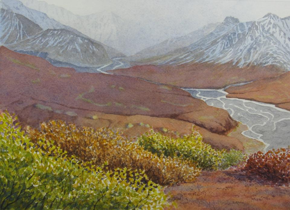 Denali: Fall Colors - 8.25 x 11.25 - $300
