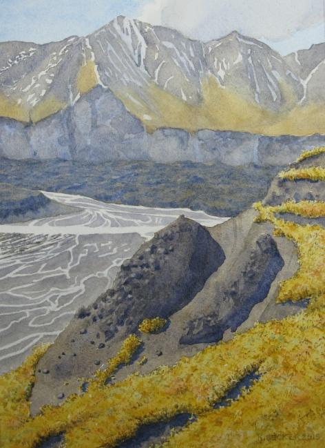 Denali: Muldrow Glacier moraine - 8.25 x 11.25 - $300