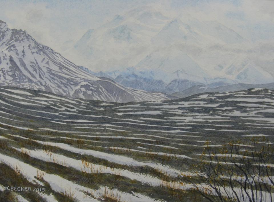 Denali: Near Polychrome Pass - 8.25 x 11.25 - $300