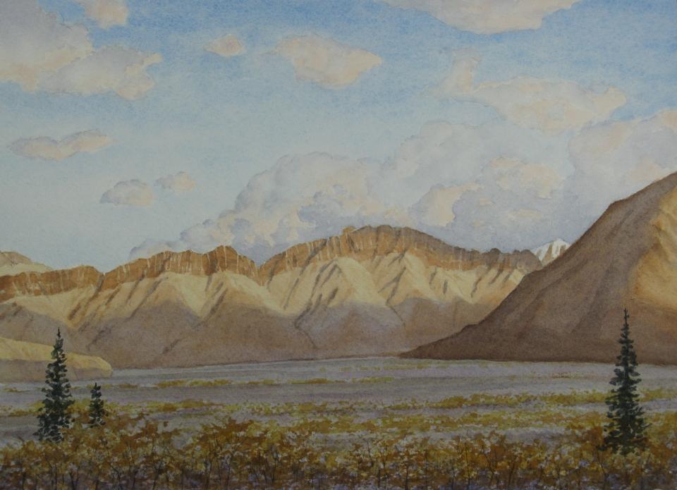 Denali: Toklat River valley - 8.25 x 11.25 - $300