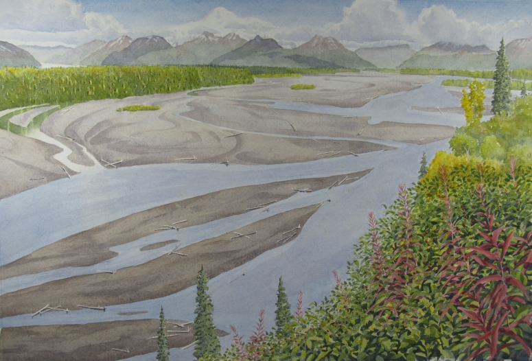 Denali: View from Chultina River - 14.25 x 21.5 - $800