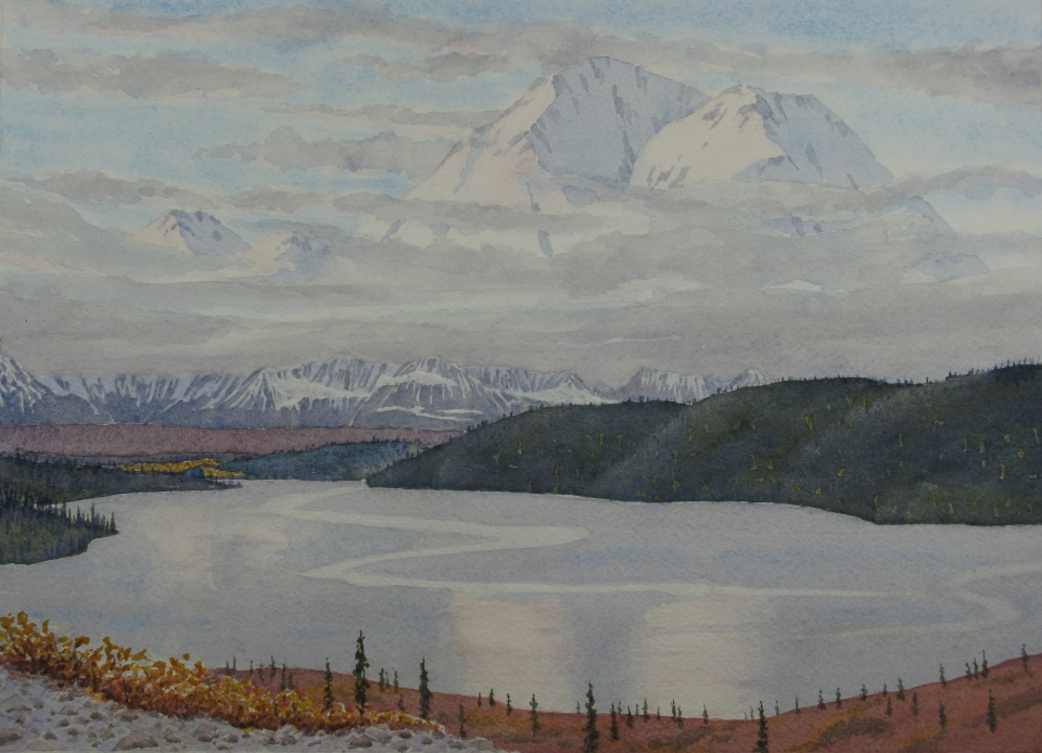 Denali: View from Wonder Lake - 8.25 x 11.25 - $300