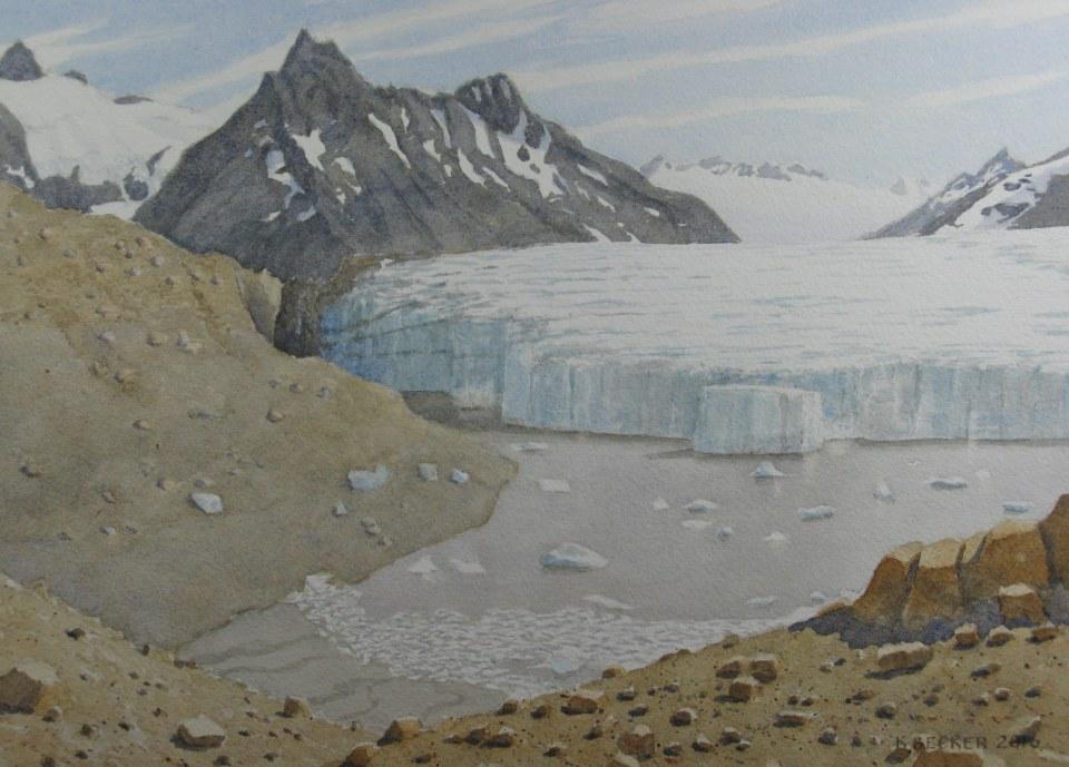 Iceberg Lake Glacier, View 3, 2016