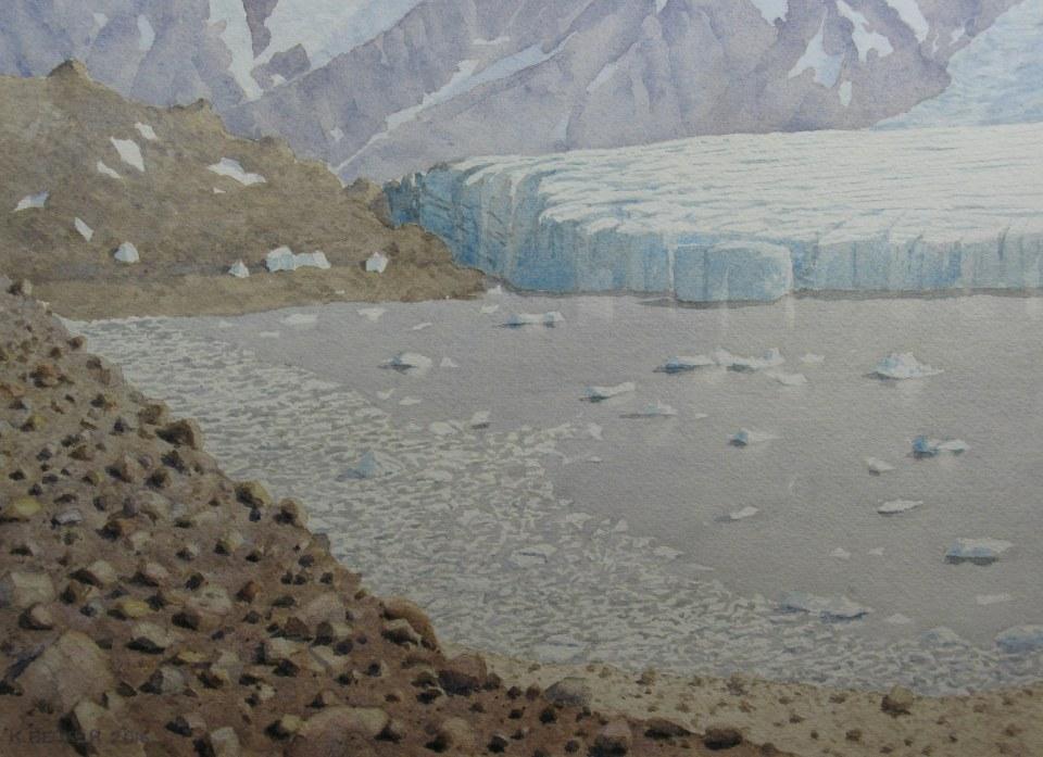 Iceberg Lake Glacier, View 2, 2016