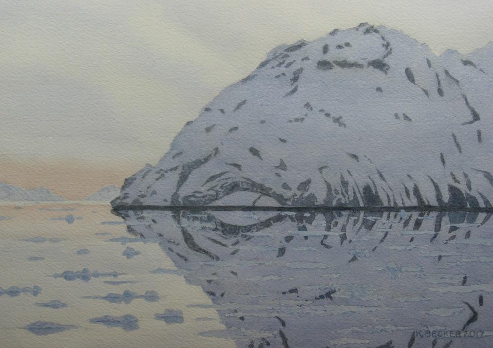 Columbia Glacier headland reflections, 2017