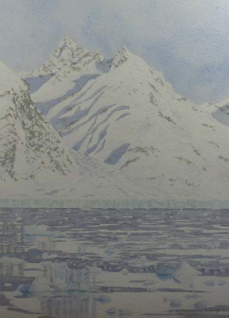 Columbia Glacier icebergs, 2017