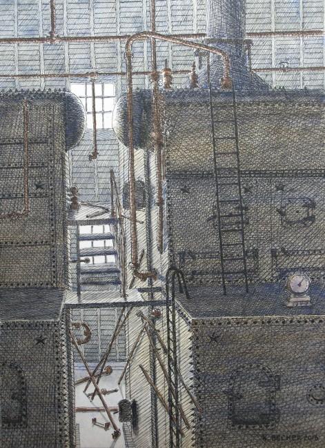 Kennecott Powerhouse, drawing
